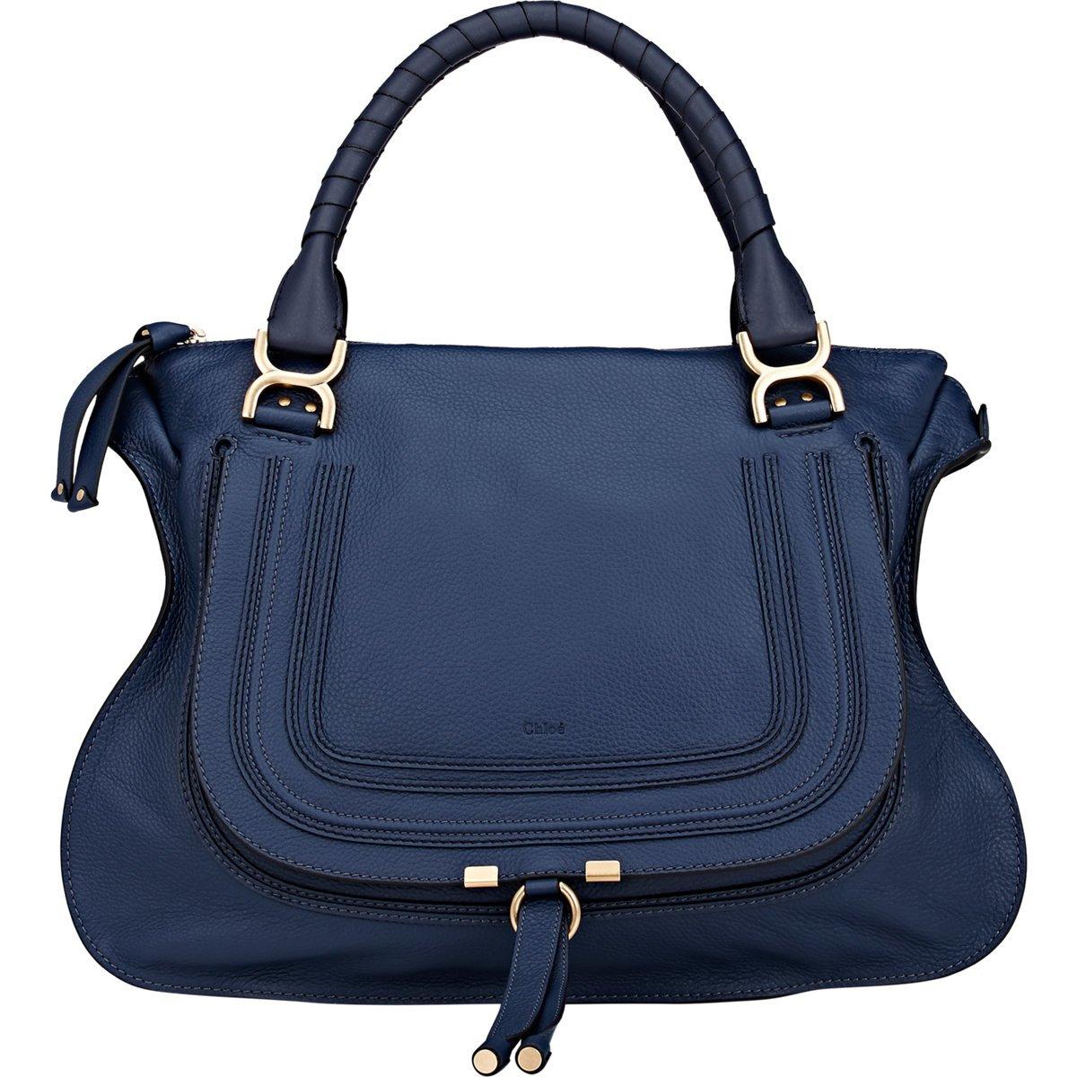 chlo marcie large satchel in blue lyst. Black Bedroom Furniture Sets. Home Design Ideas
