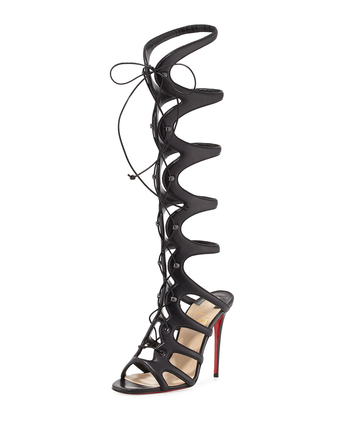 cheap louis vuitton mens shoes - Christian louboutin Amazoula Lace-Up Leather Gladiator Sandals in ...