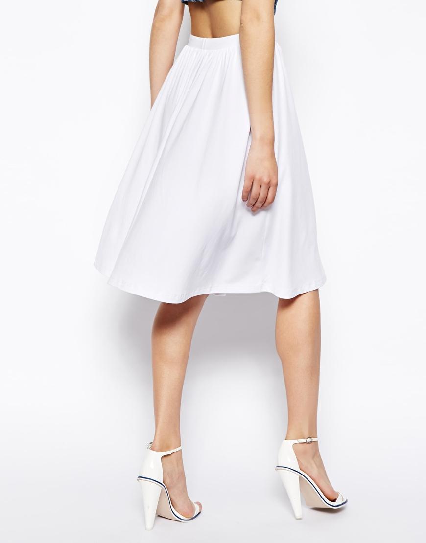 White Skater Skirts - Skirts