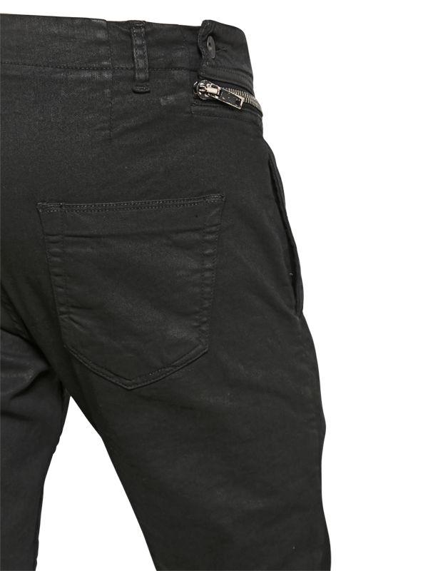 56dcfcd88ec6 Rick Owens Drkshdw Side Zip Waxed Cotton Pants in Black for Men - Lyst