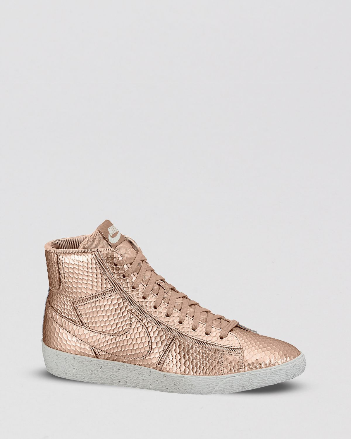 fc43d32fb537 Lyst - Nike Lace Up High Top Sneakers Womens Blazer Mid Cutout in ...