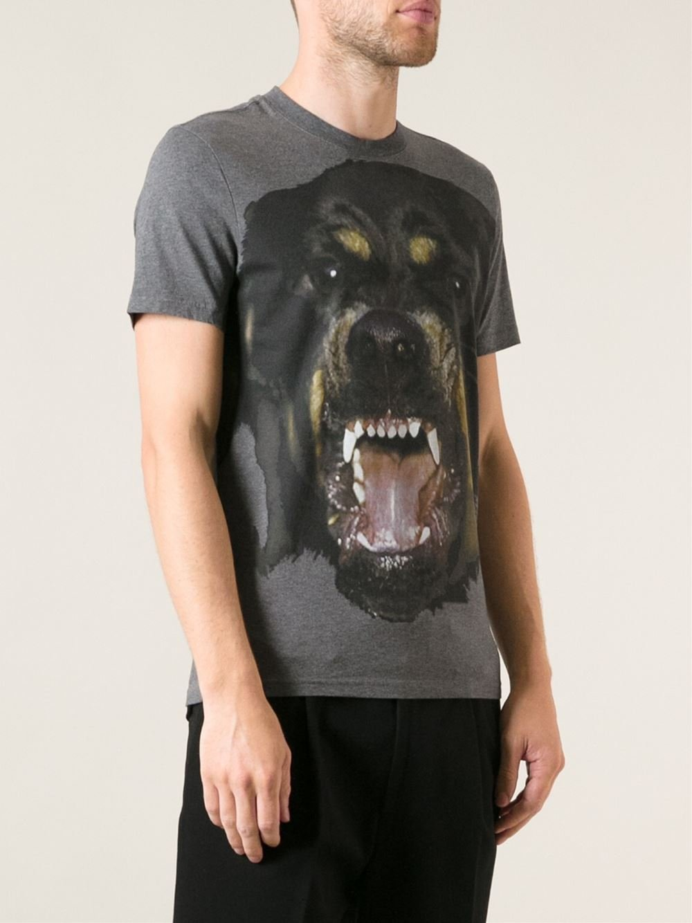 Lyst Givenchy Rottweiler Tshirt In Gray For Men