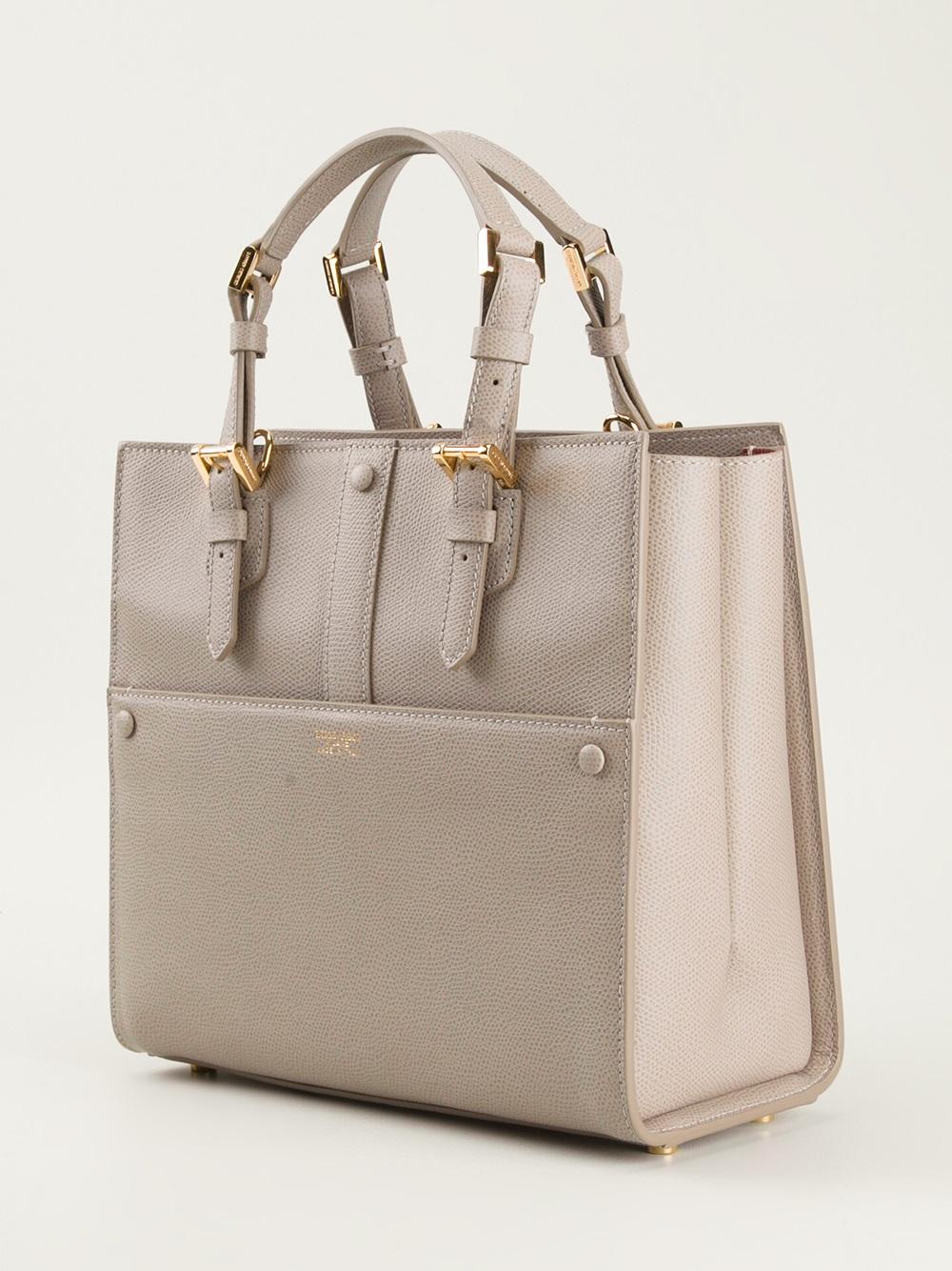 372d96115100 Lyst - Giorgio Armani Tote Bag in Gray