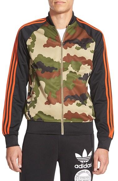 10a7d7fcc8682 adidas Originals 'street Superstar' Camo Track Jacket in Black for ...