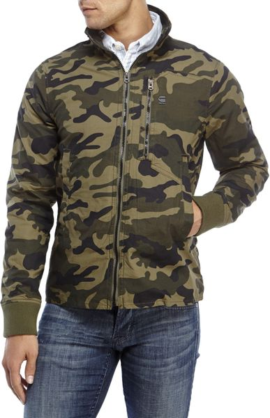 g star raw recroft camouflage overshirt in green for men. Black Bedroom Furniture Sets. Home Design Ideas