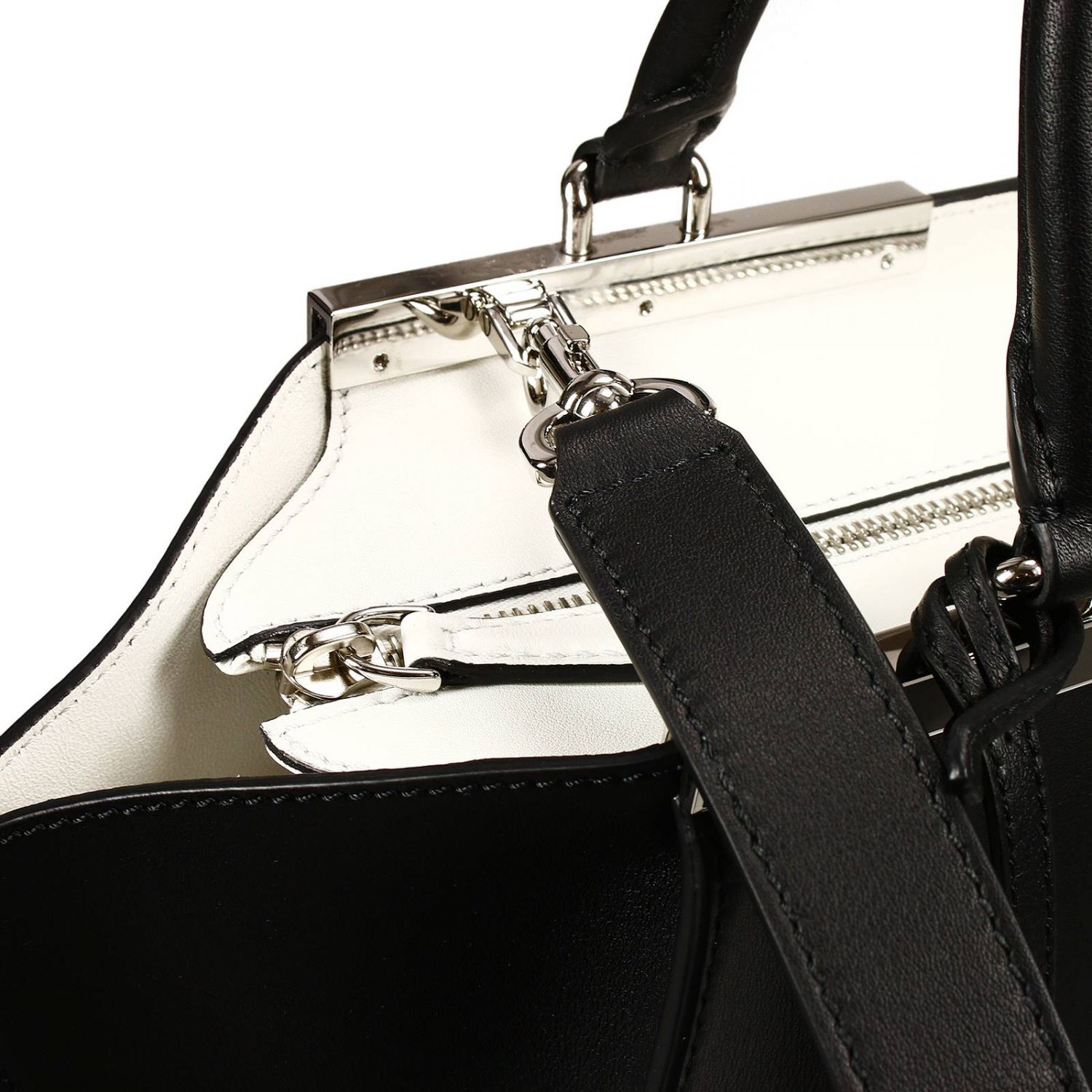 ... coupon code for lyst fendi handbag bag 3 jours small leather contrast  inside in black d54c6 ... cba960c55d34f