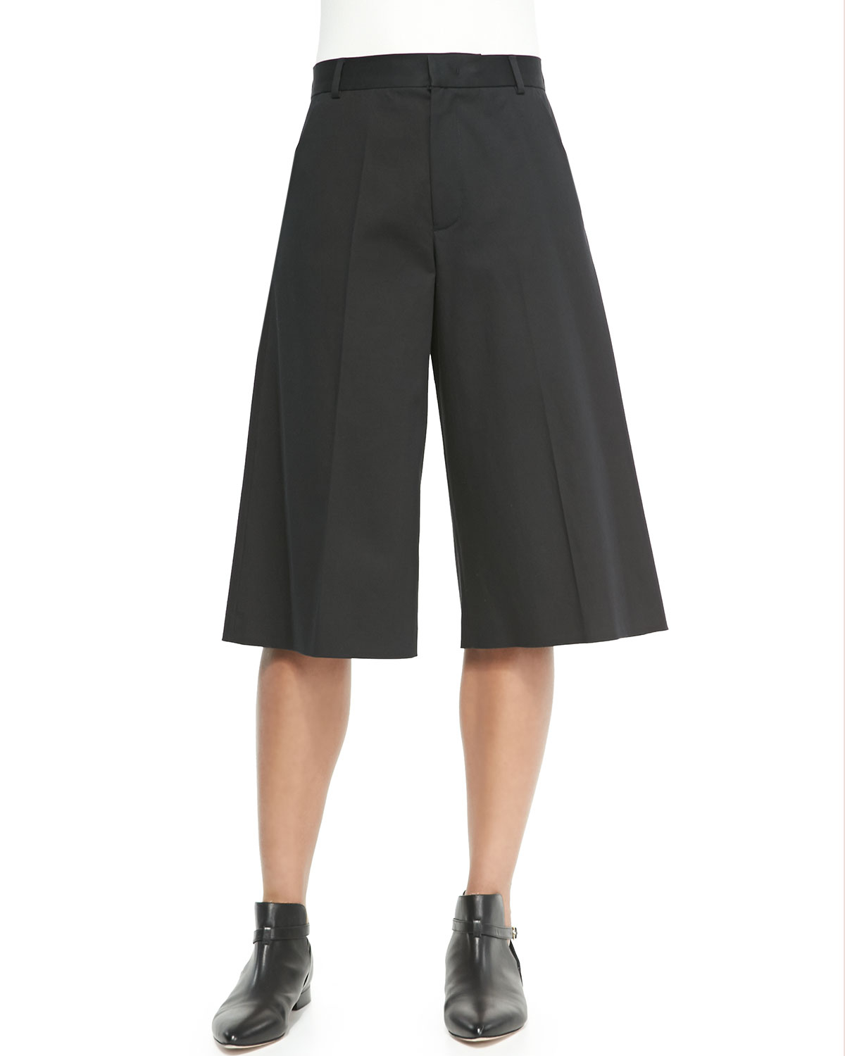 Red valentino High-Waist Gaucho Pants in Red | Lyst
