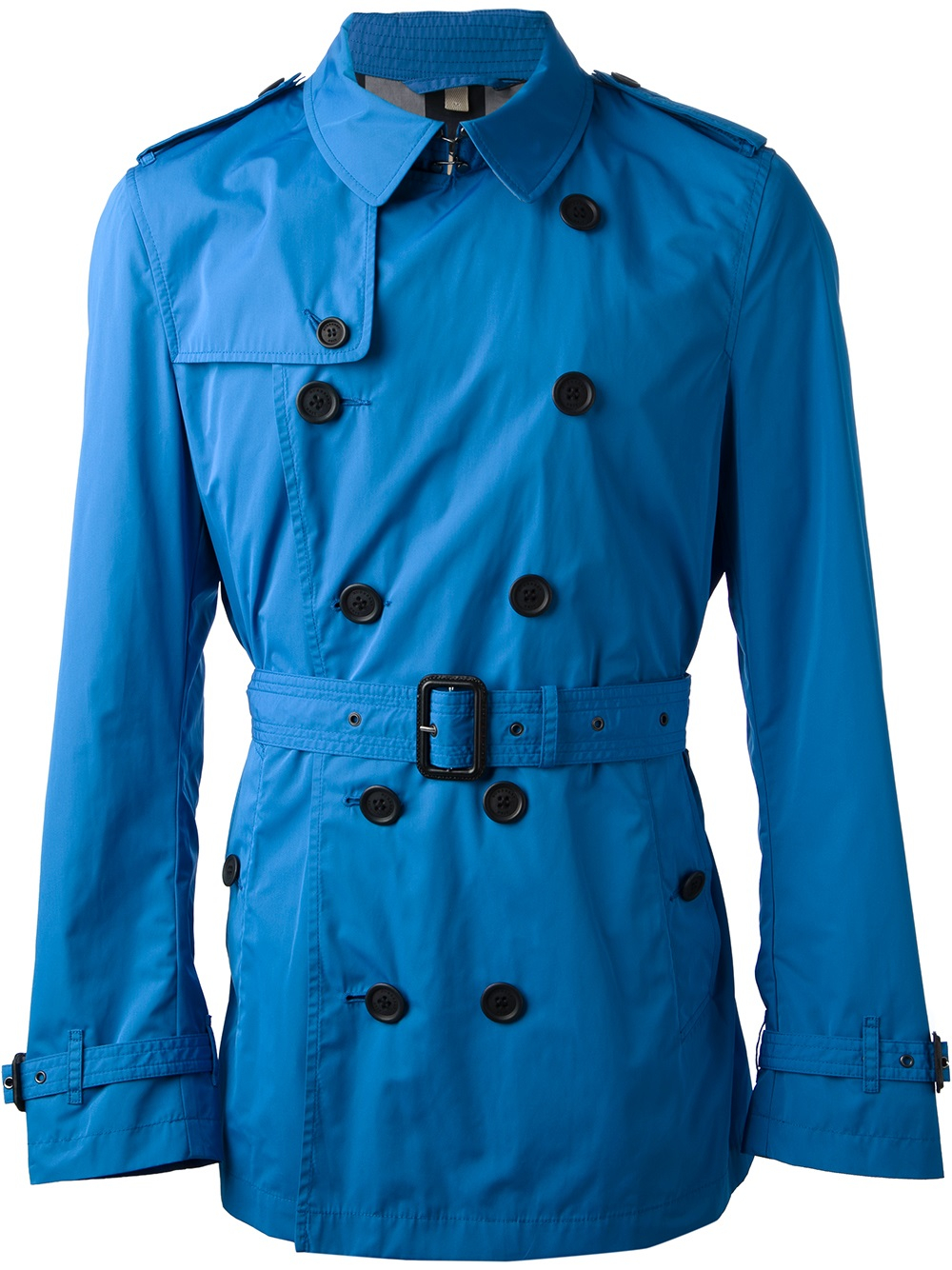 Lyst Burberry Brit Belted Trench Coat In Blue For Men