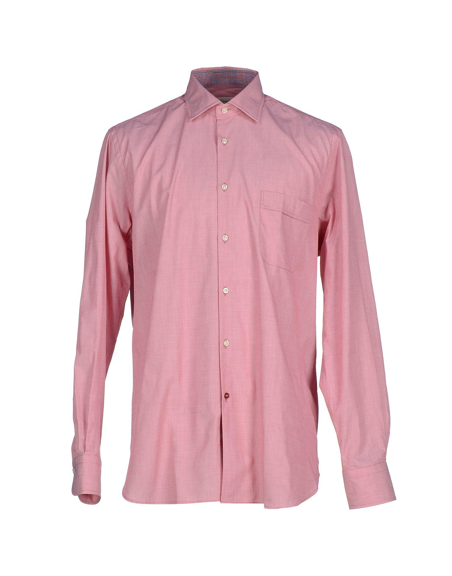 Lyst carrel shirt in pink for men for Mens pink shirts uk