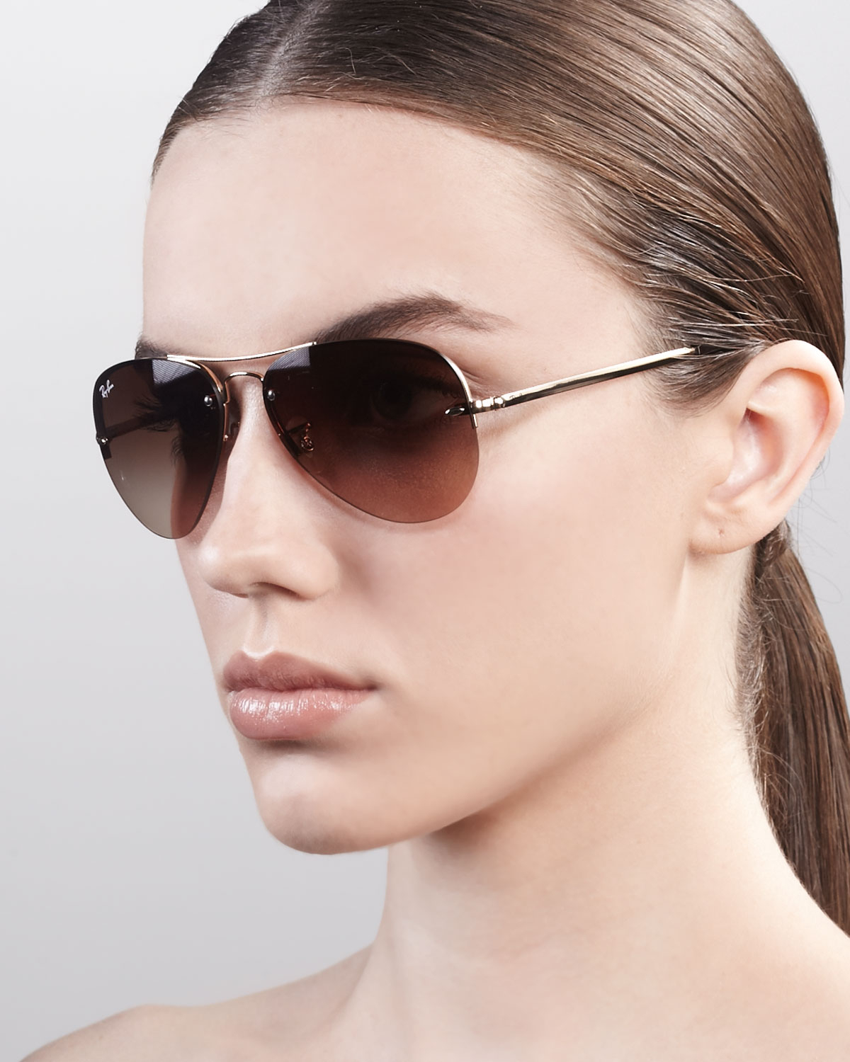 Original Aviator Sunglasses  ray ban original aviator sunglasses in metallic lyst