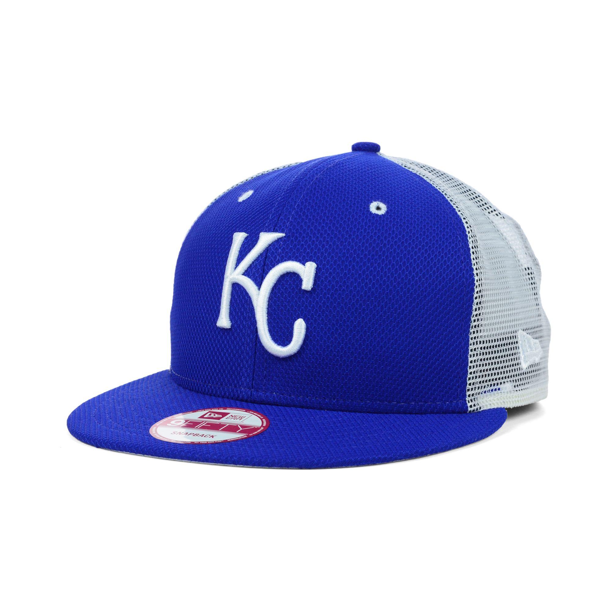fa0f2b010b8e9 Lyst - KTZ Kansas City Royals Mlb Diamond Mesh 9fifty Snapback Cap ...