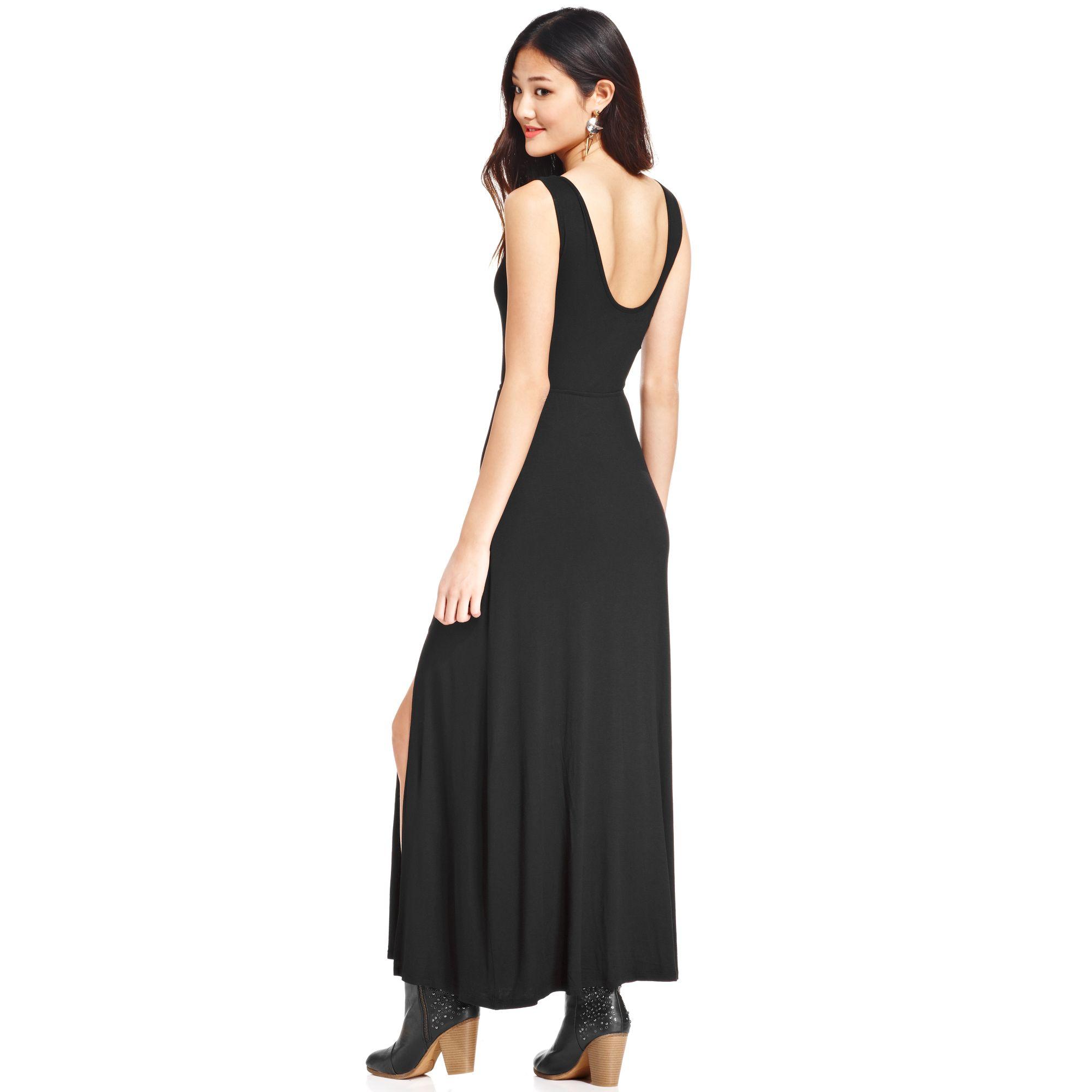 Material girl Juniors Illusion Maxi Dress in Black | Lyst