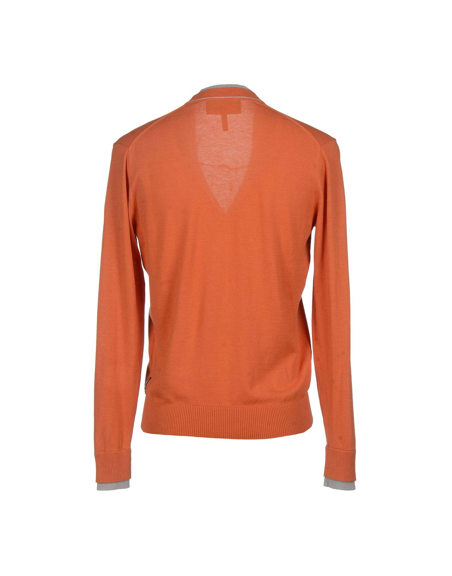armani cardigan in orange for lyst