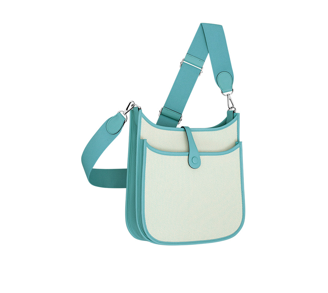 hermes Garden Party large ecru (off white)/atoll blue
