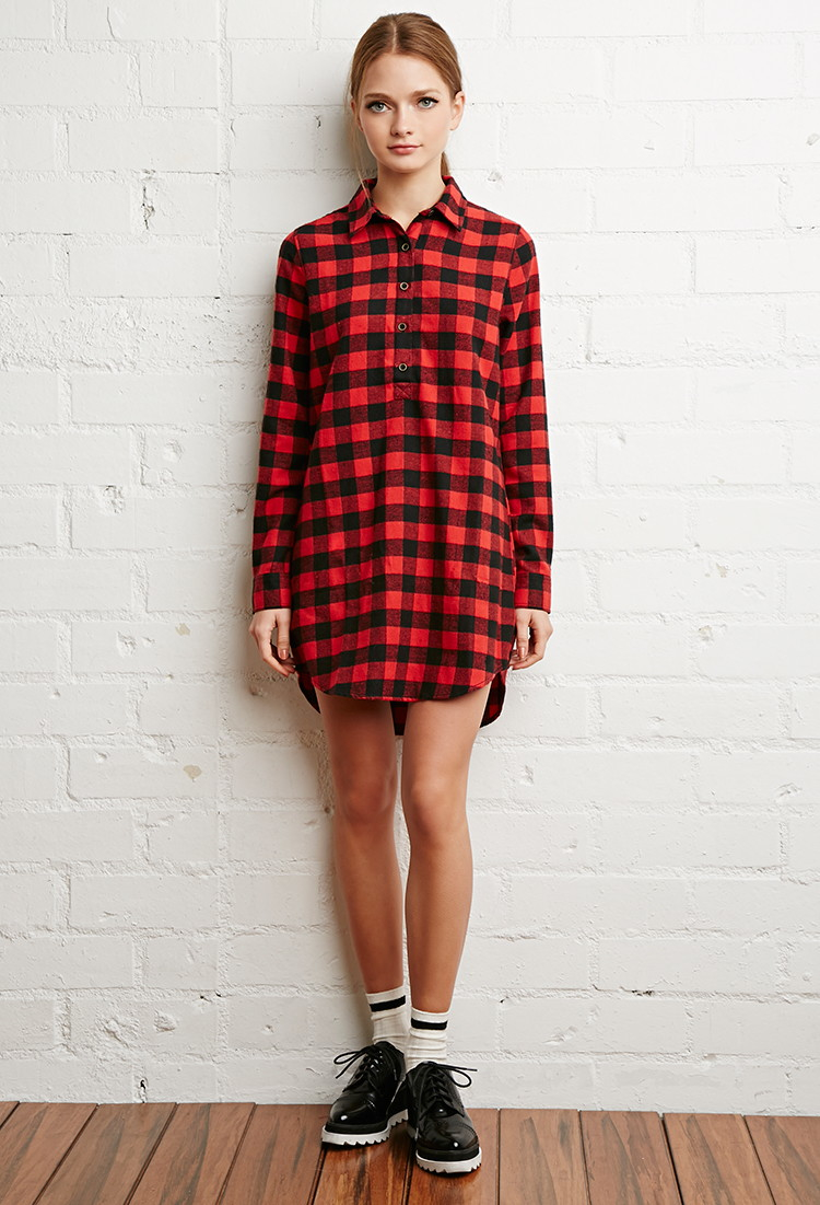 b768ee99d79 Buffalo Plaid Shirt Forever 21