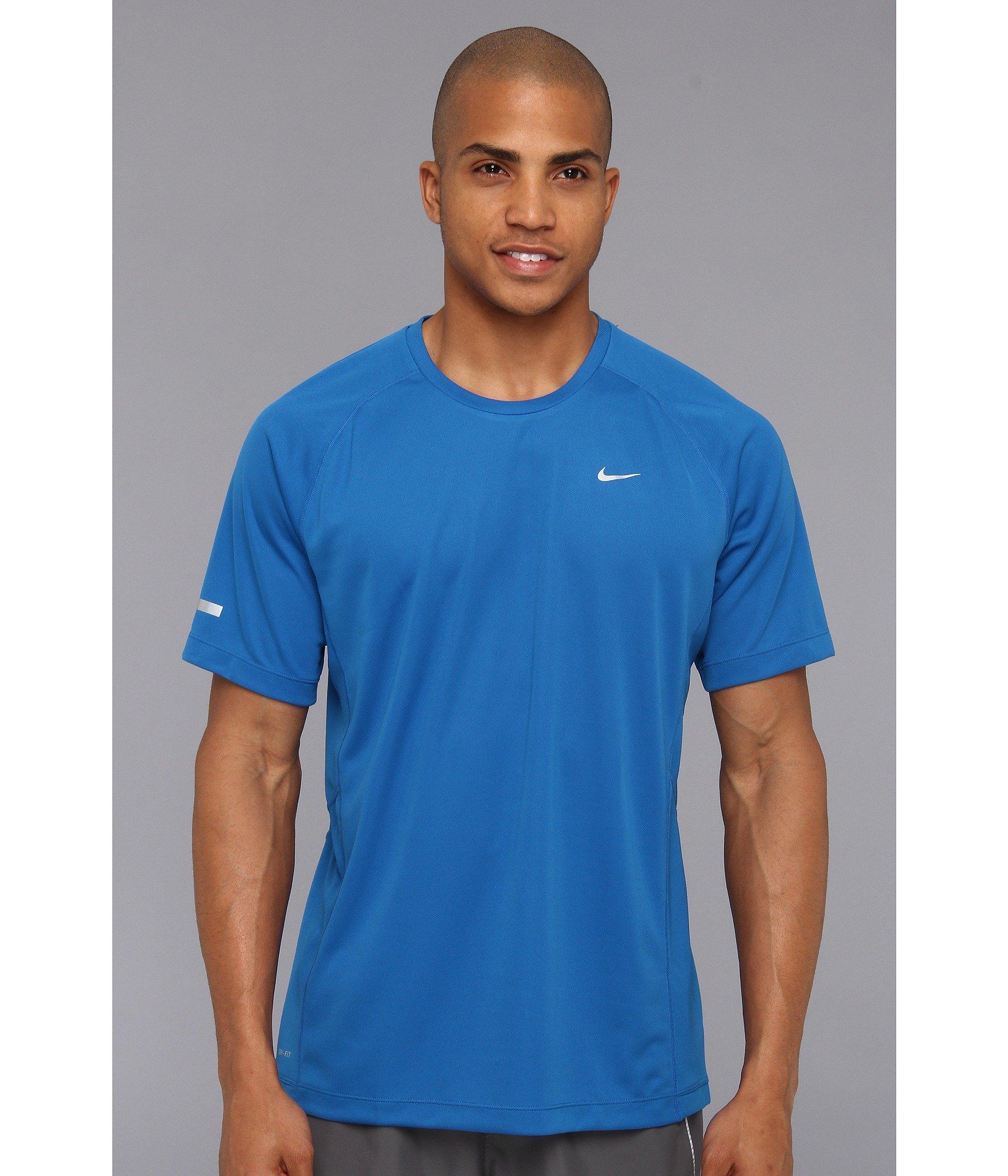 Nike Miler Ss Uv Shirt Team In Blue For Men Lyst