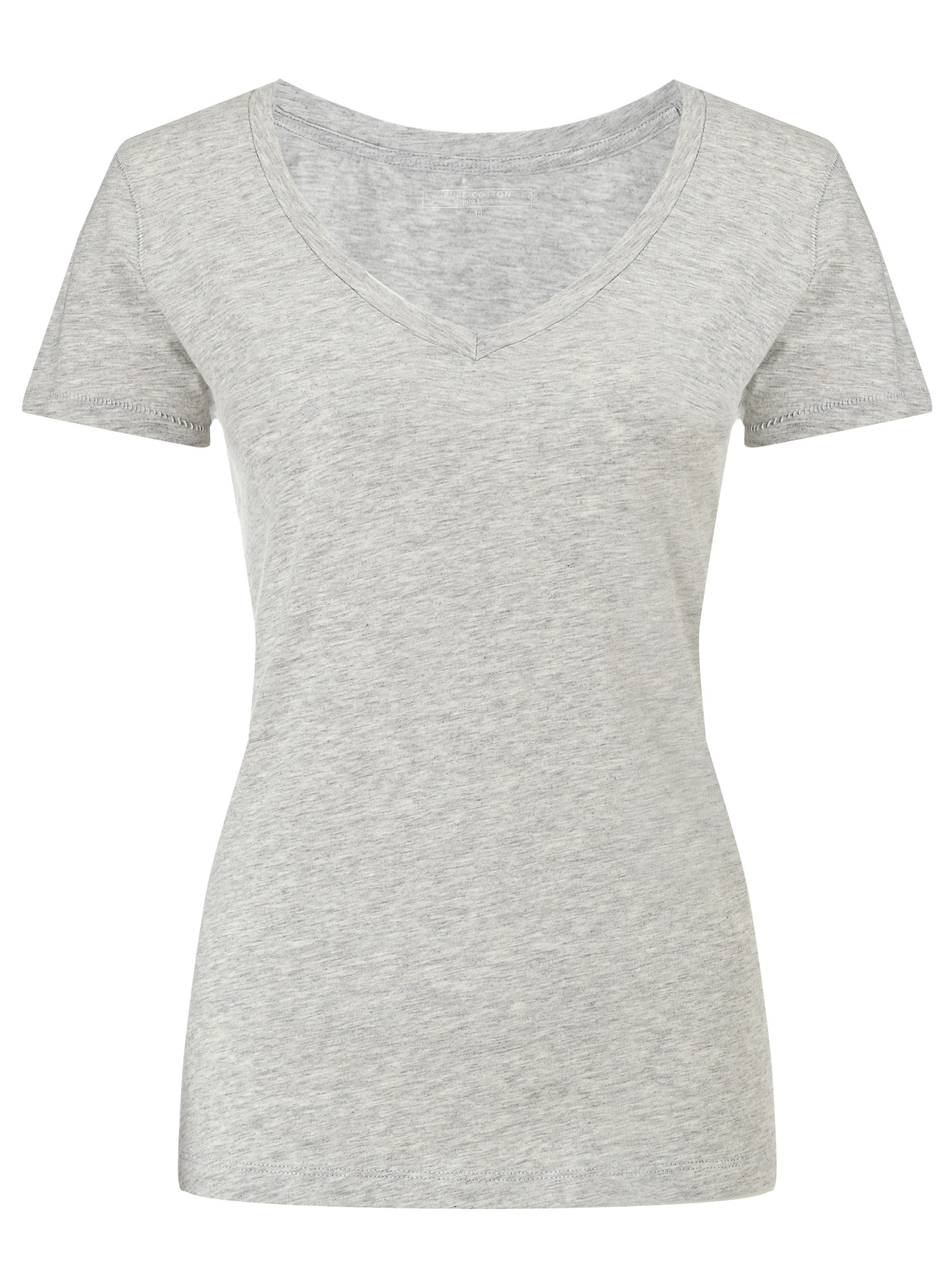 john lewis slub cotton v neck t shirt in gray lyst. Black Bedroom Furniture Sets. Home Design Ideas