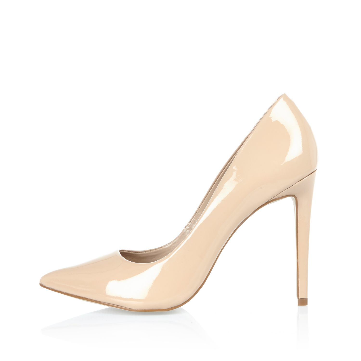 River Island Womens Bright patent pumps FeZDSIs91