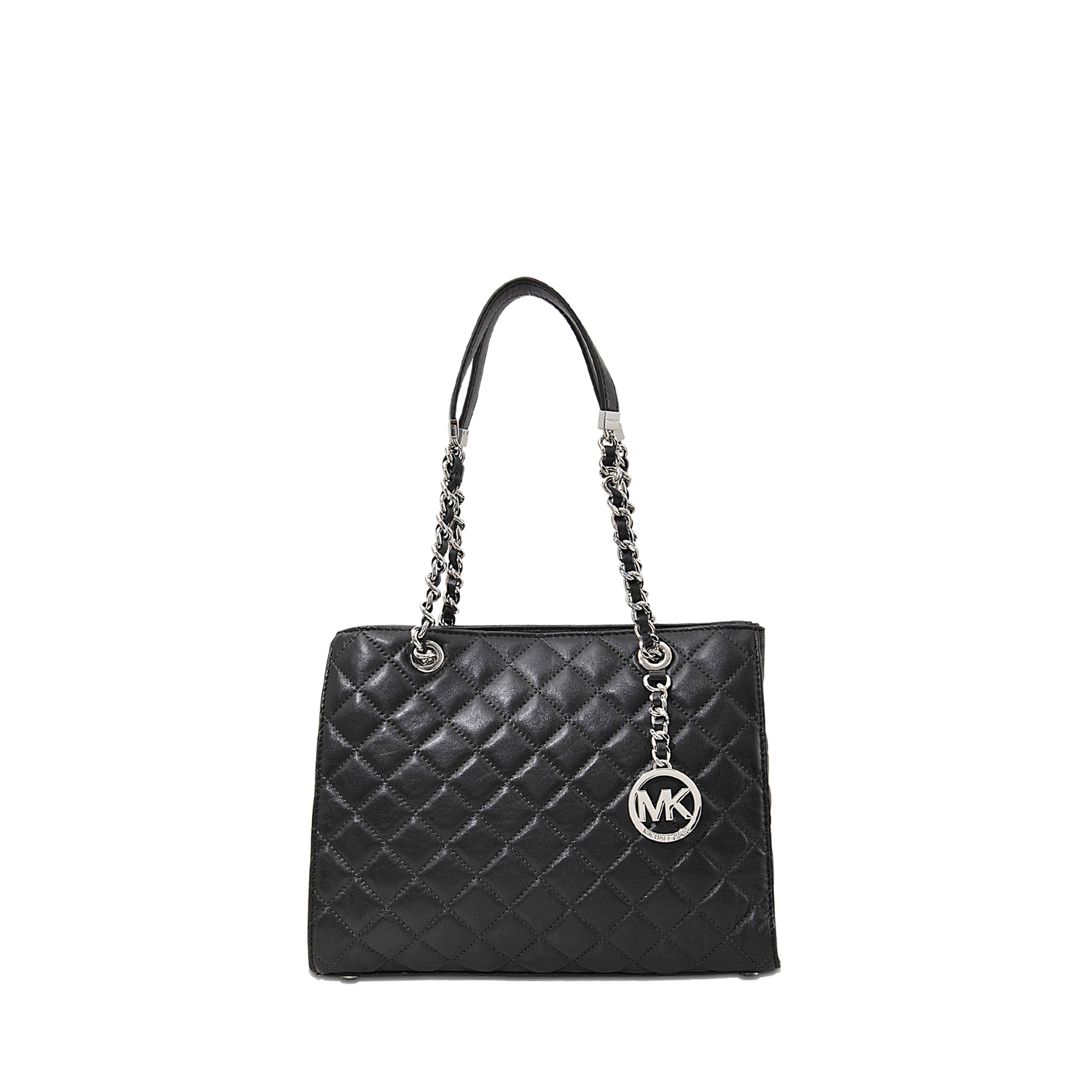 beb1ad2c794d67 MICHAEL Michael Kors Susannah Quilted Md Tote in Black - Lyst