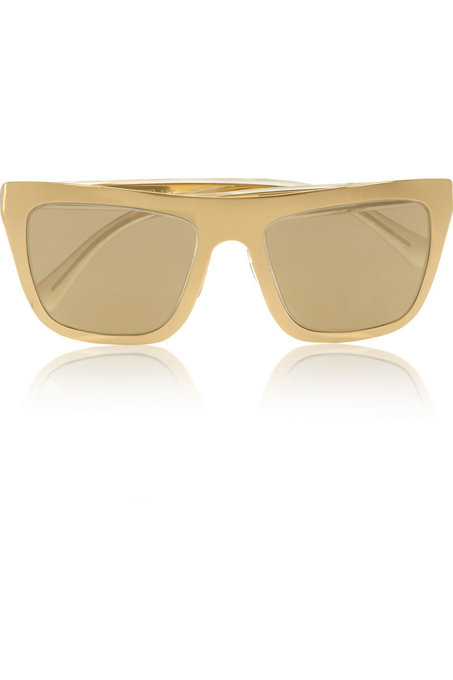Dolce And Gabbana Gold Sunglasses  dolce gabbana gold plated d frame mirrored sunglasses in
