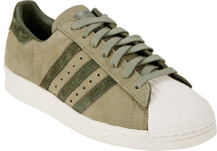 Adidas Superstar Olive Green Suede
