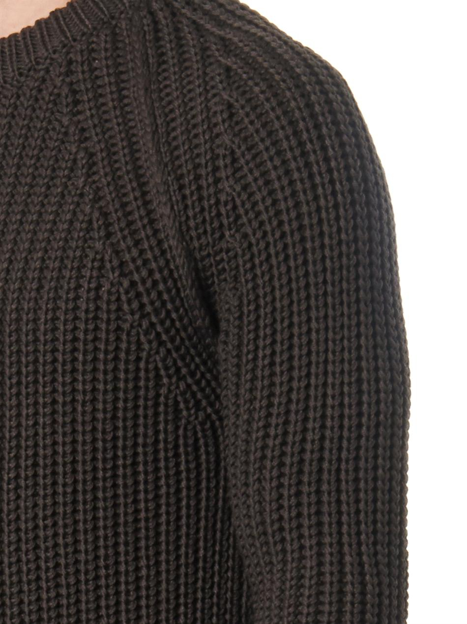 Lanvin Chunky-knit Merino Wool Sweater in Brown for Men | Lyst