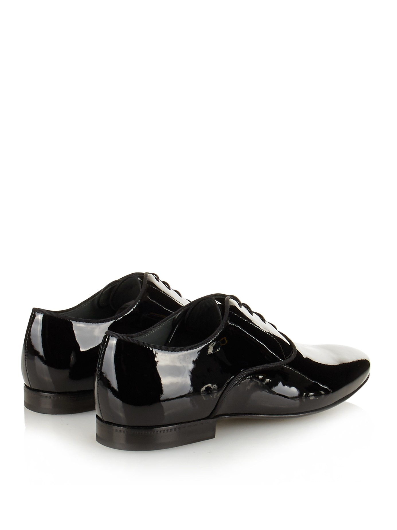 Lanvin Patent-leather Oxford Shoes In Black For Men | Lyst