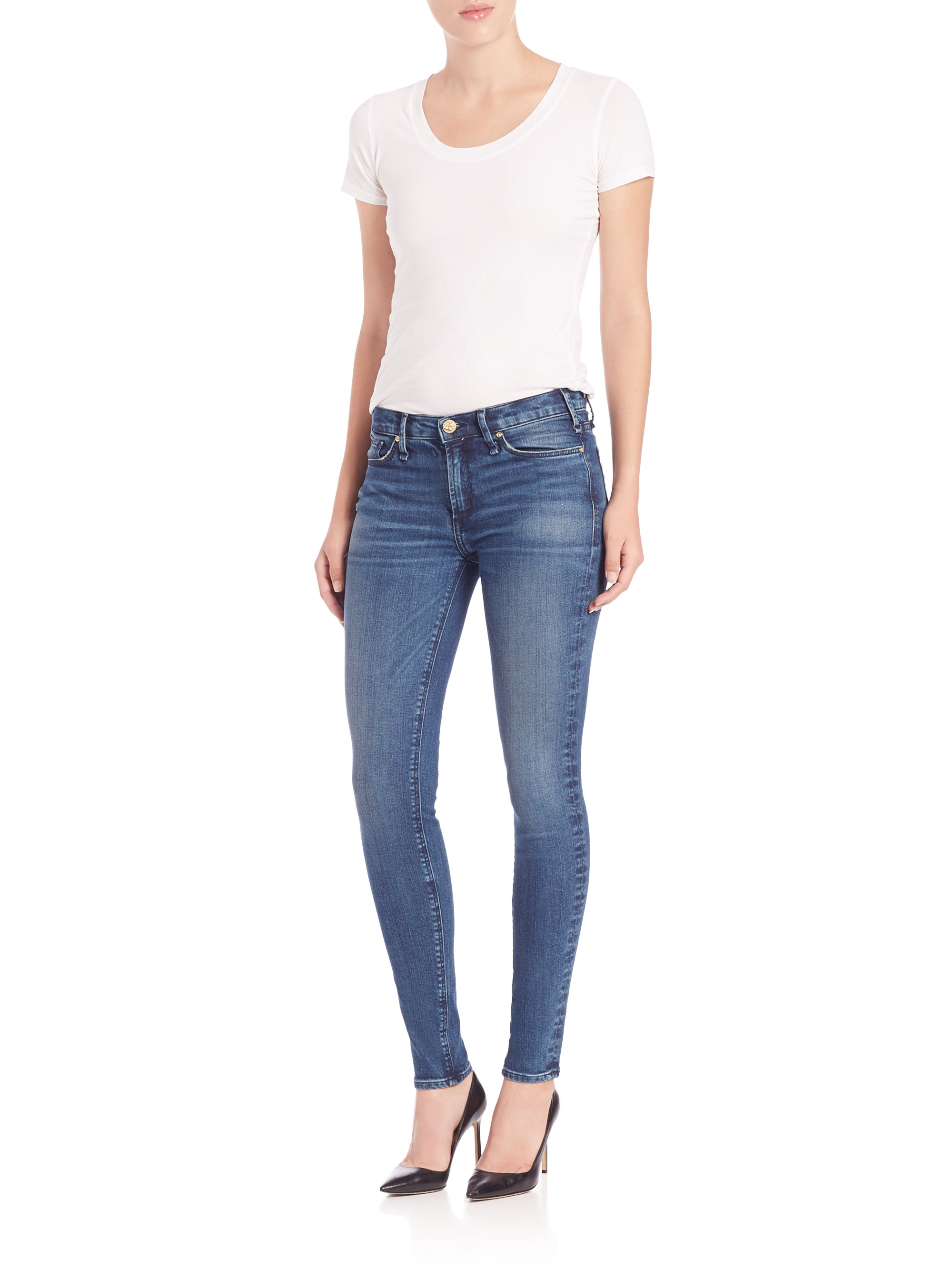 Mcguire Newton Faded Skinny Jeans in Blue | Lyst