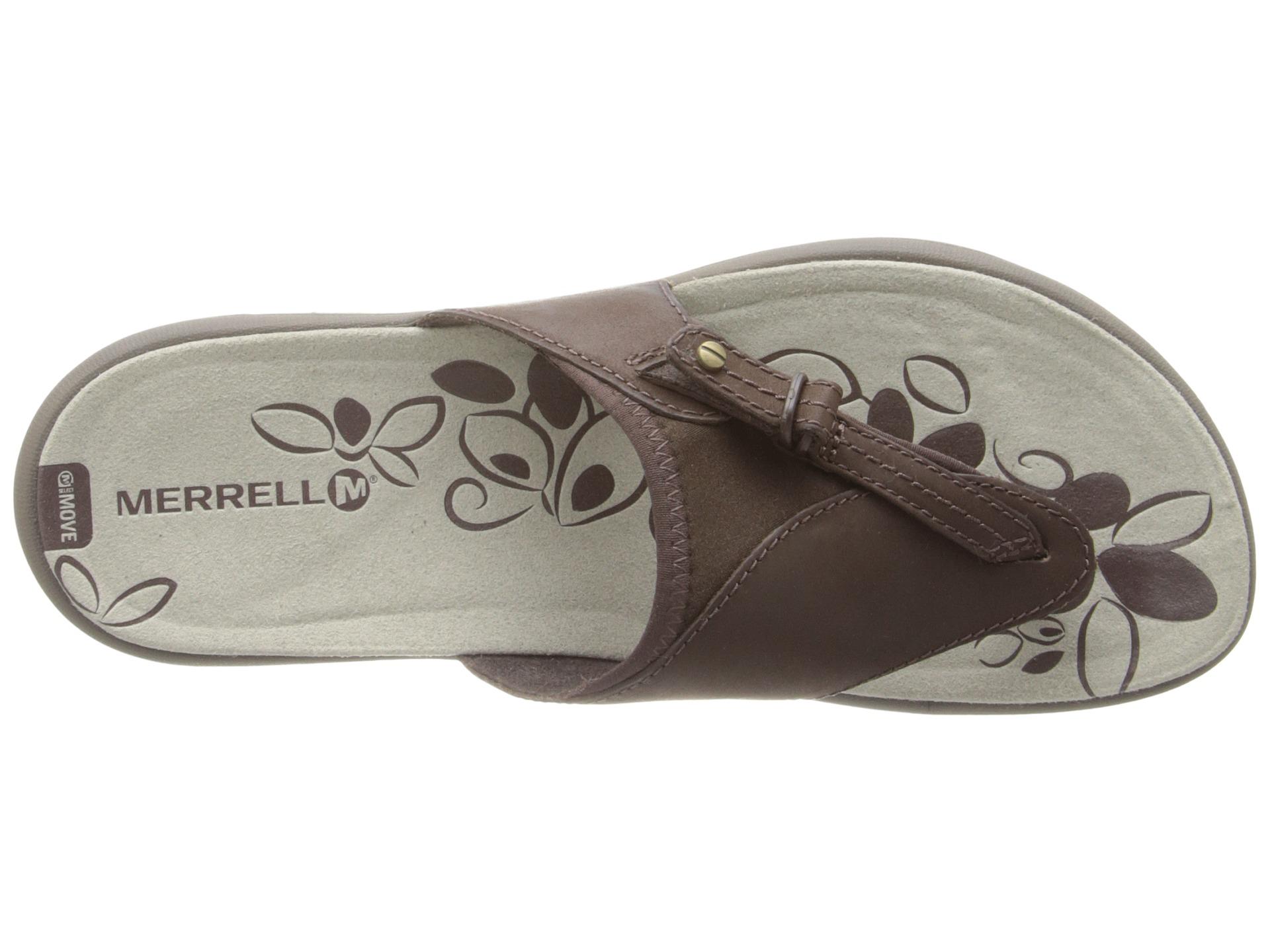 474baaab2c91 Lyst - Merrell Grace Leather Flip in Brown