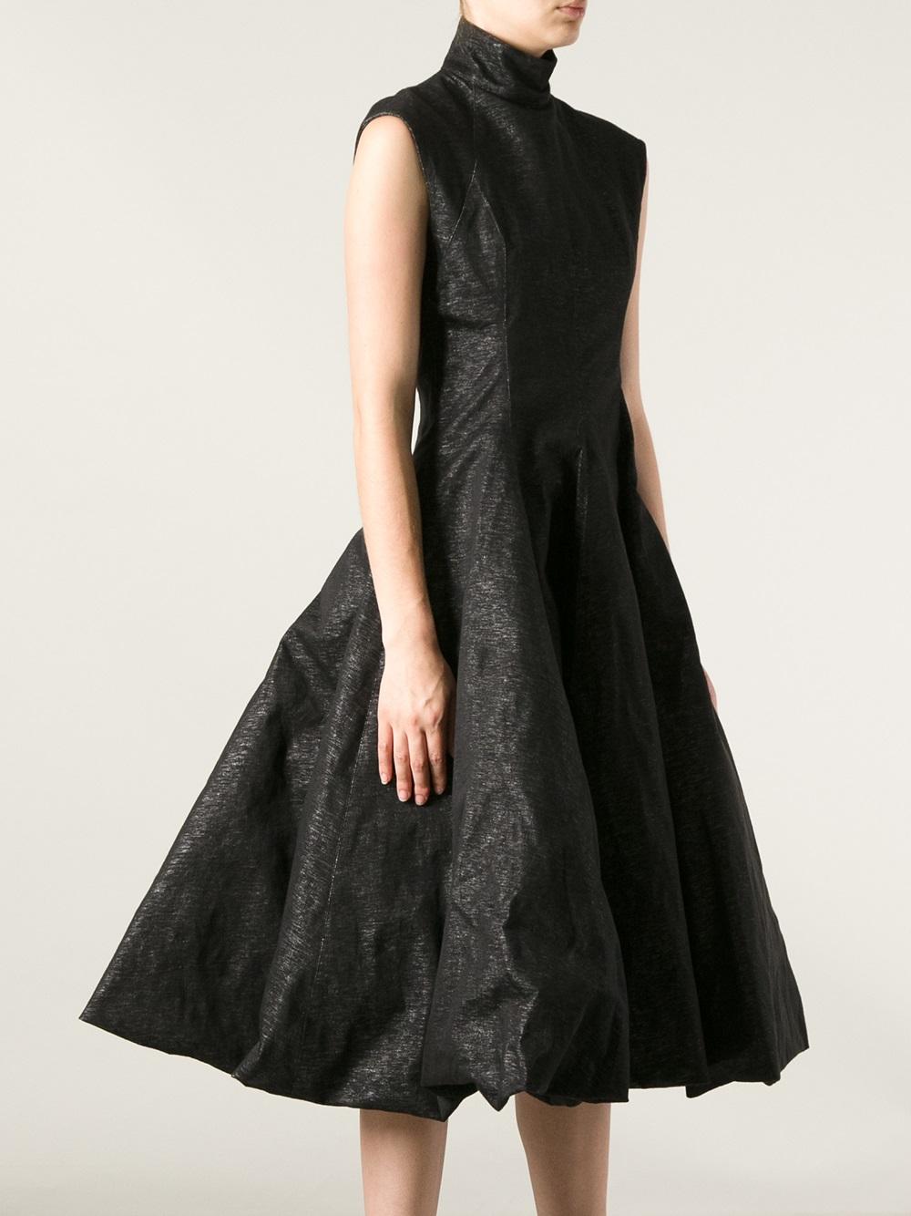 Lyst Gareth Pugh Flared Dress In Black