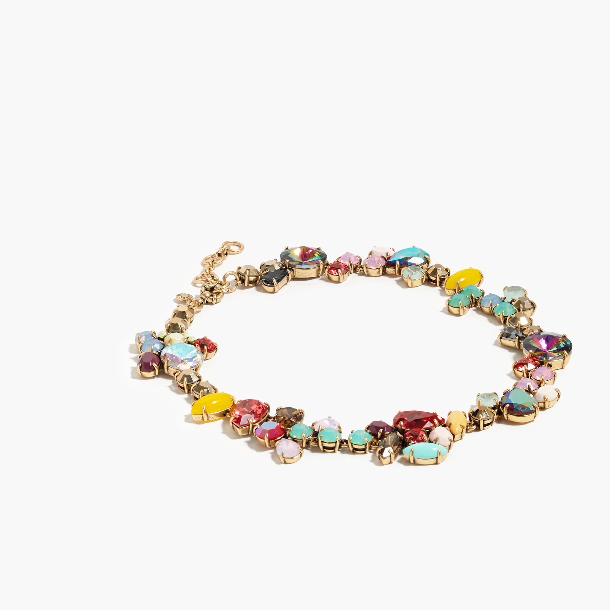 Lyst J Crew Colorful Crystal Foliage Necklace