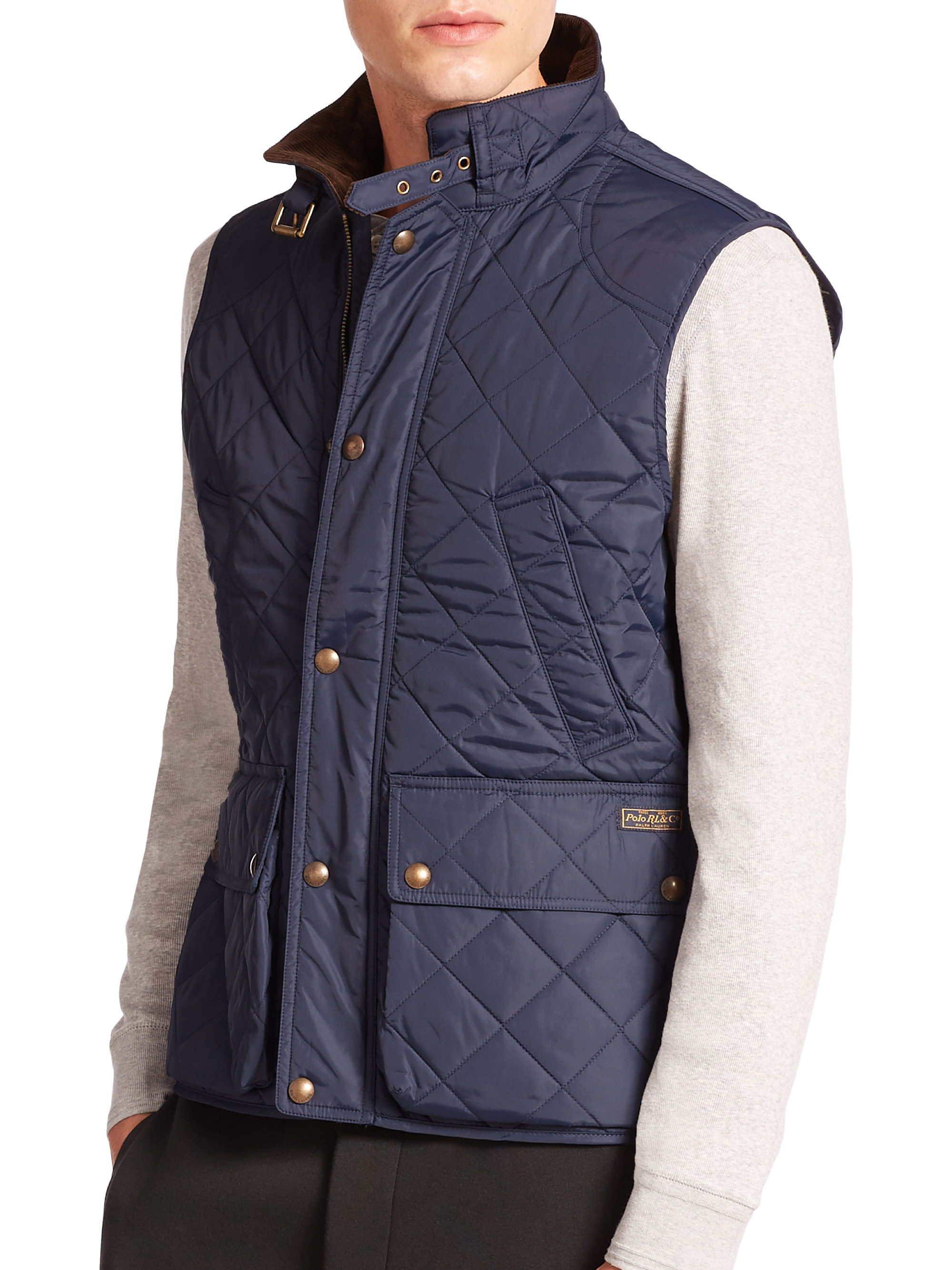 lauren mens fall ralph fashion collection shows vogue quilt menswear purple jacket quilted
