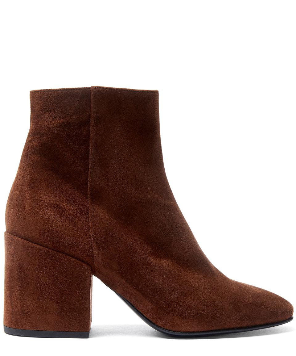 5b6cbabac6 Lyst - Dries Van Noten Brown Block Heel Suede Ankle Boots in Brown