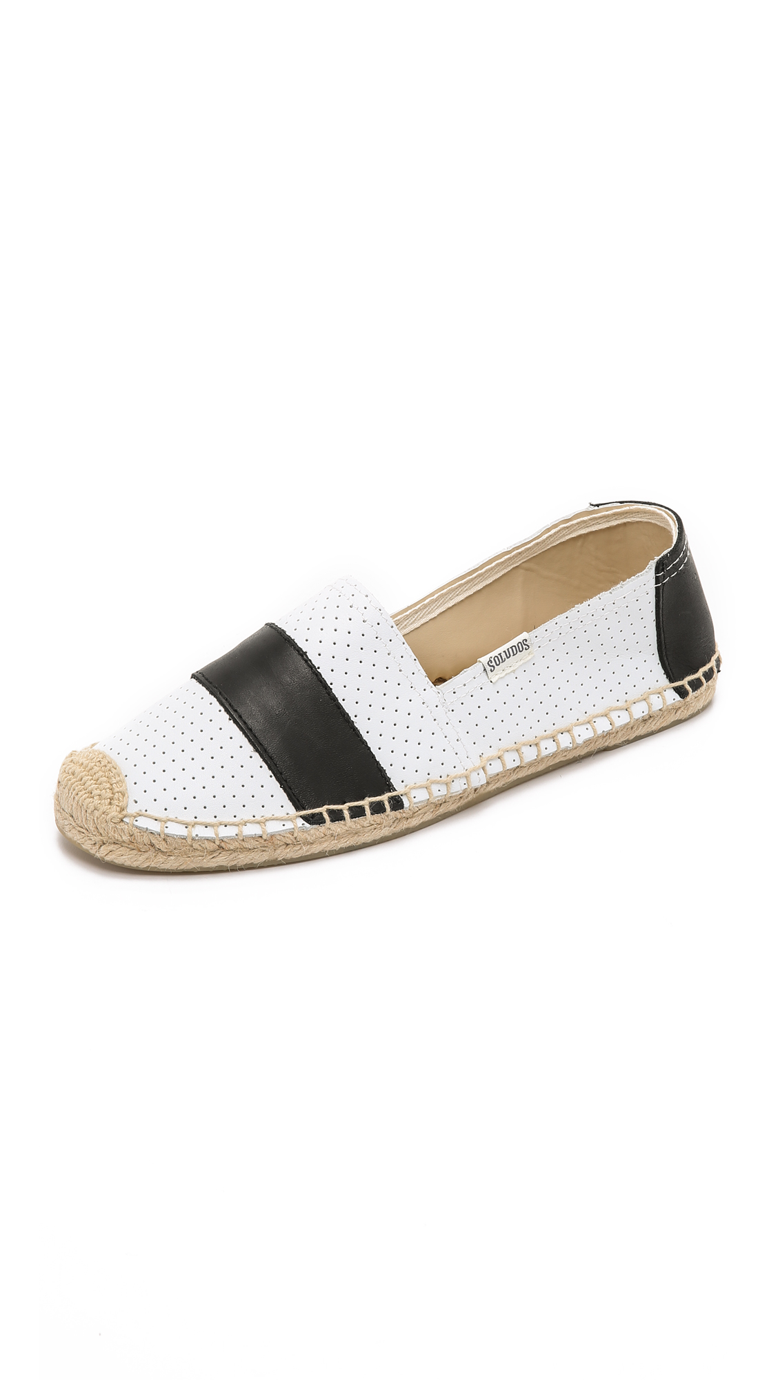 7ebb402f0 Soludos Original Leather Barca Perforated Espadrilles in White - Lyst
