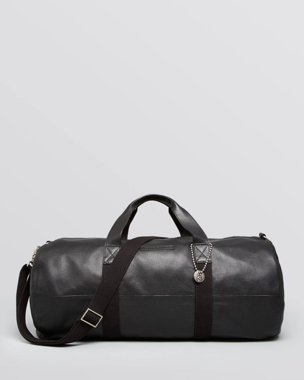 Lyst - John Varvatos Chelsea Leather Gym Bag in Black for Men