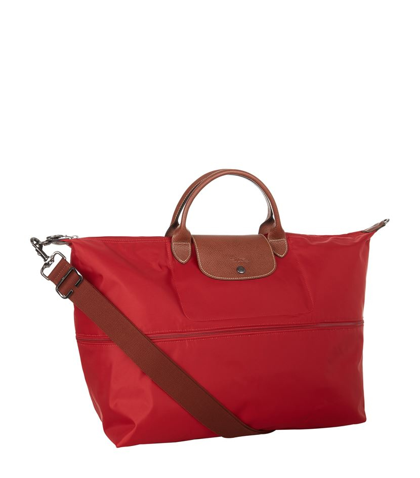 Longchamp Le Pliage Expandable Travel Bag in Red | Lyst