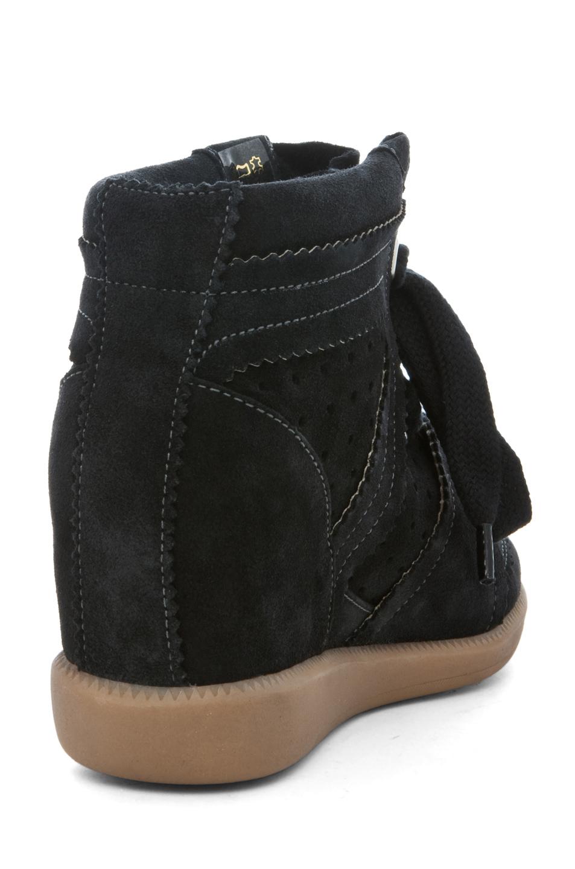 isabel marant bobby sneaker in anthracite in black anthracite lyst. Black Bedroom Furniture Sets. Home Design Ideas