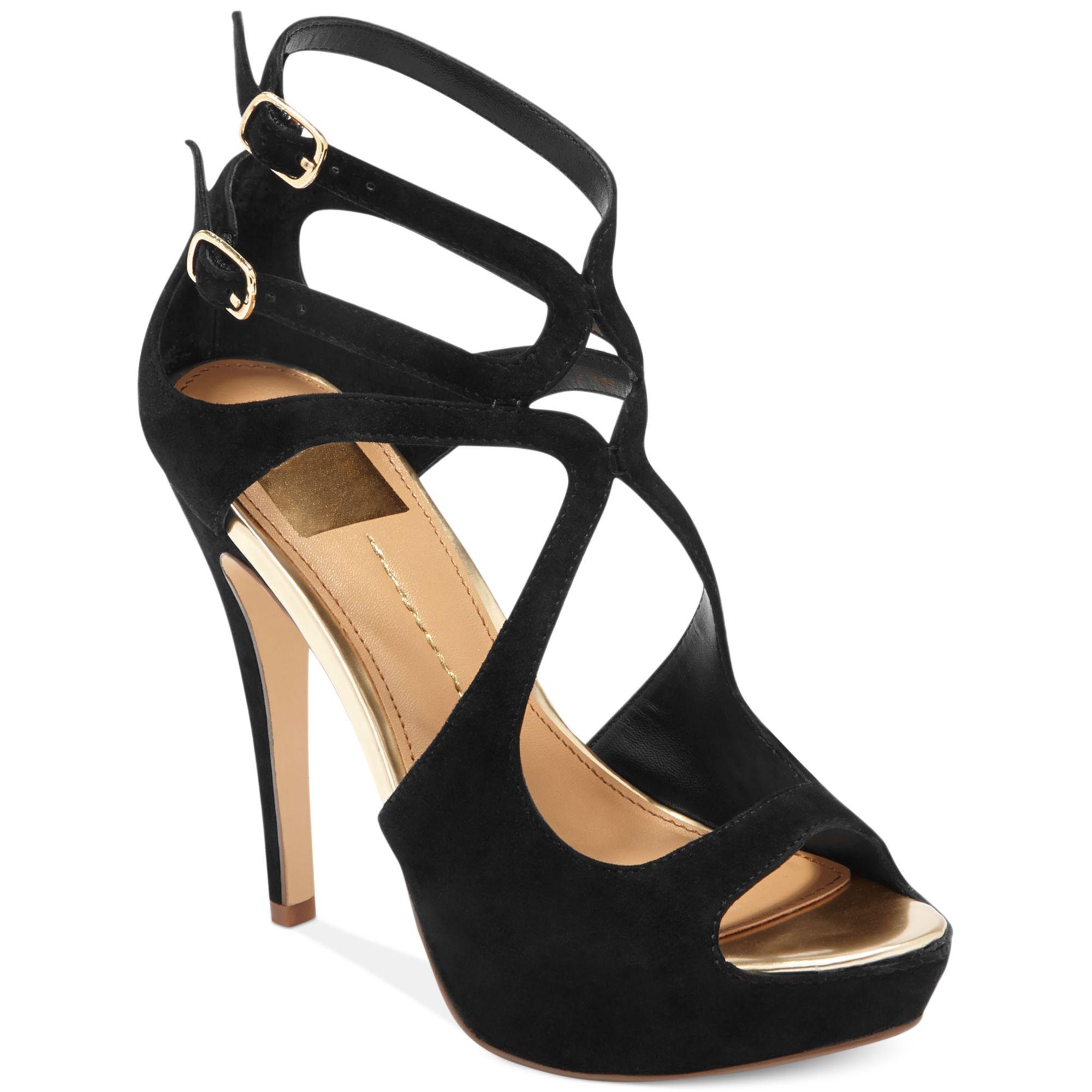dolce vita dv by brielle platform sandals in black lyst