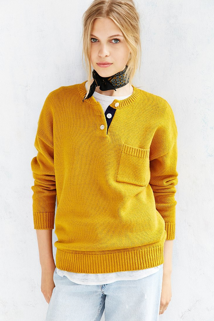 Bdg Jude Pullover Sweater in Yellow | Lyst