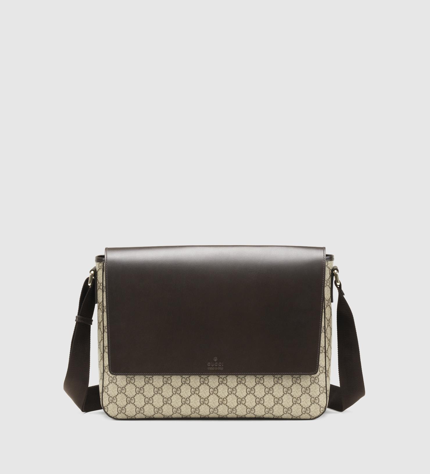 0b694c92fbf2 Gucci Gg Supreme Canvas Messenger Bag in Brown - Lyst