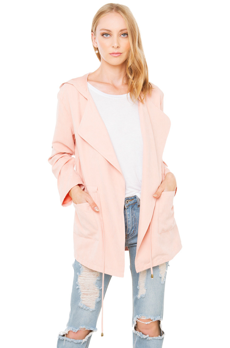 Blush Pink River Island Suede Jacket