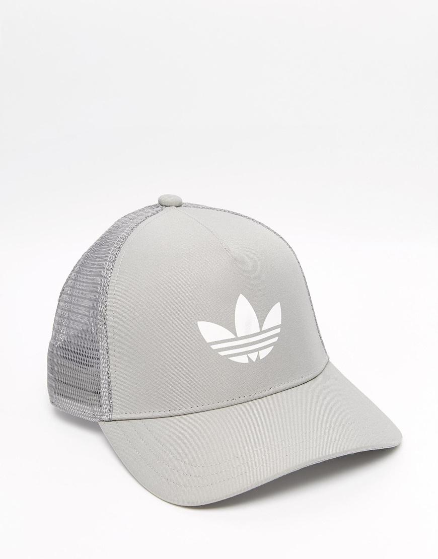 Lyst - adidas Originals Trucker Cap in Gray for Men c7ae8e08c9e