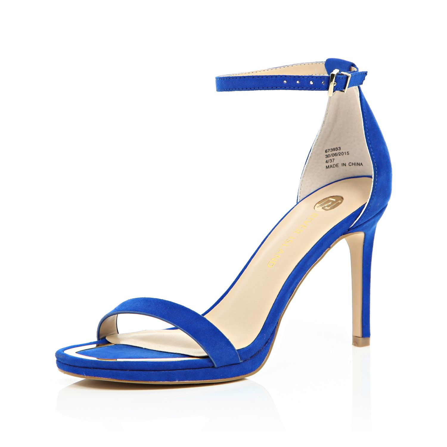 76954a7efdb River Island Blue Barely There Sandal Heels in Blue - Lyst