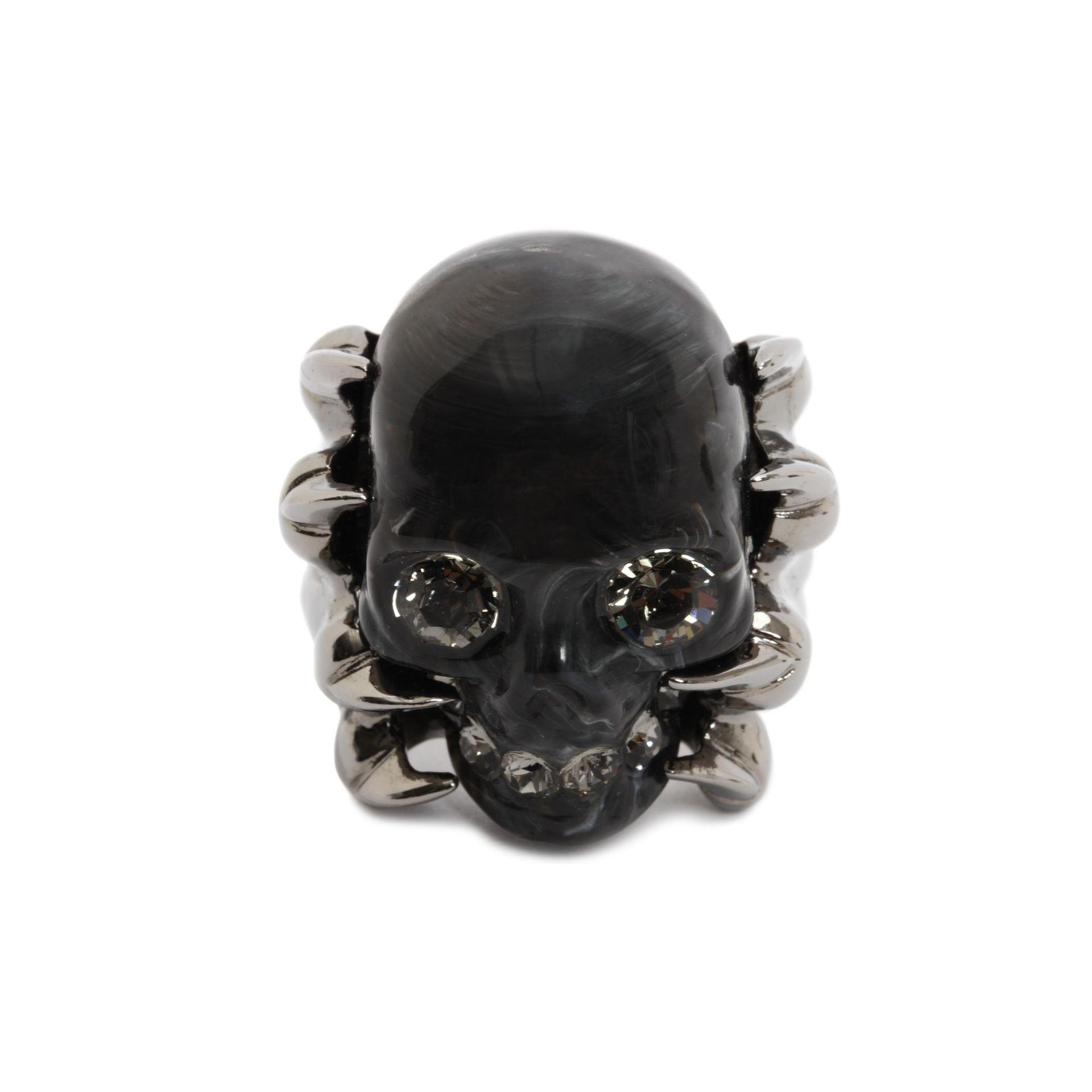 Alexander mcqueen Claw Skull Ring in Black for Men