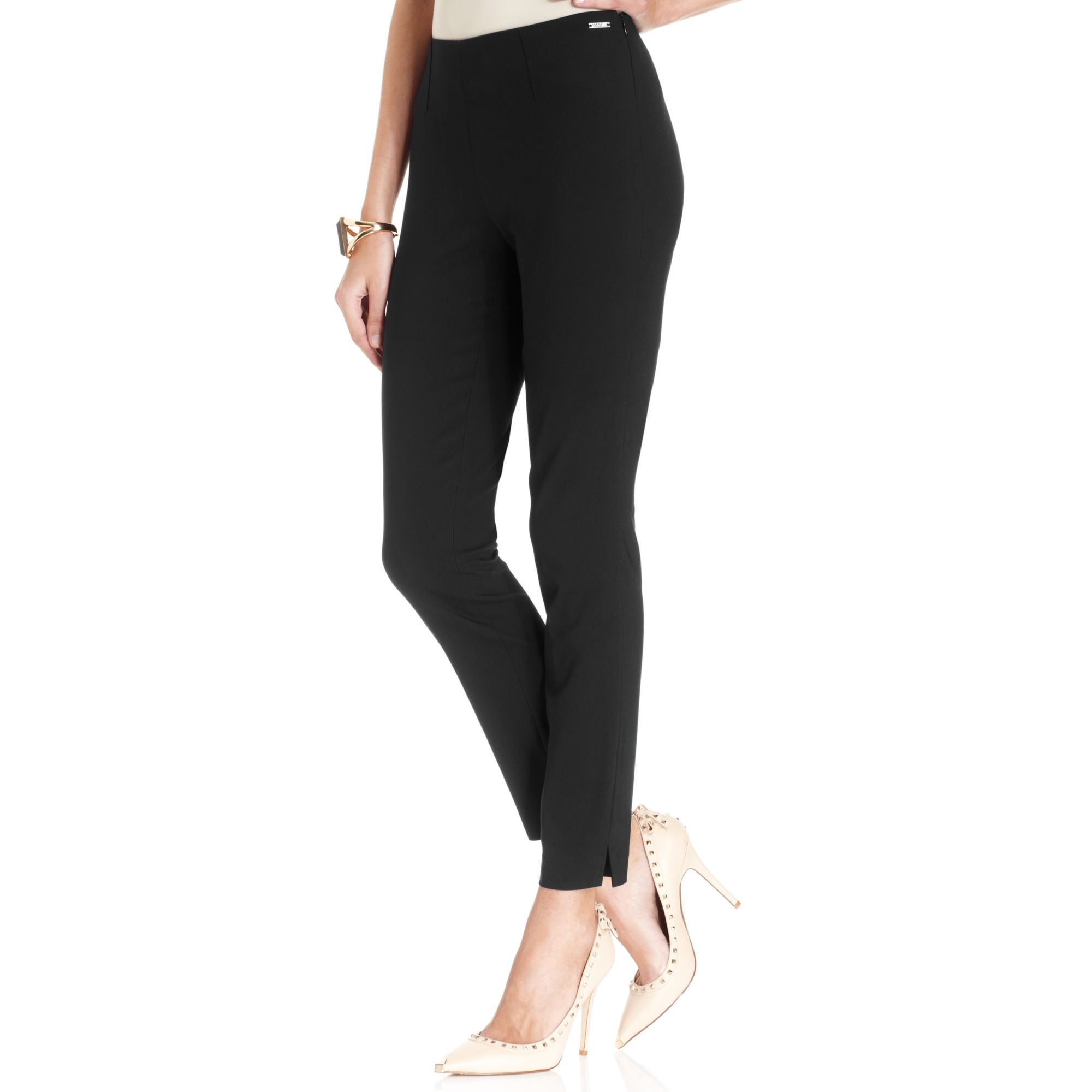 Ivanka Trump Skinny Dress Pants In Black Lyst