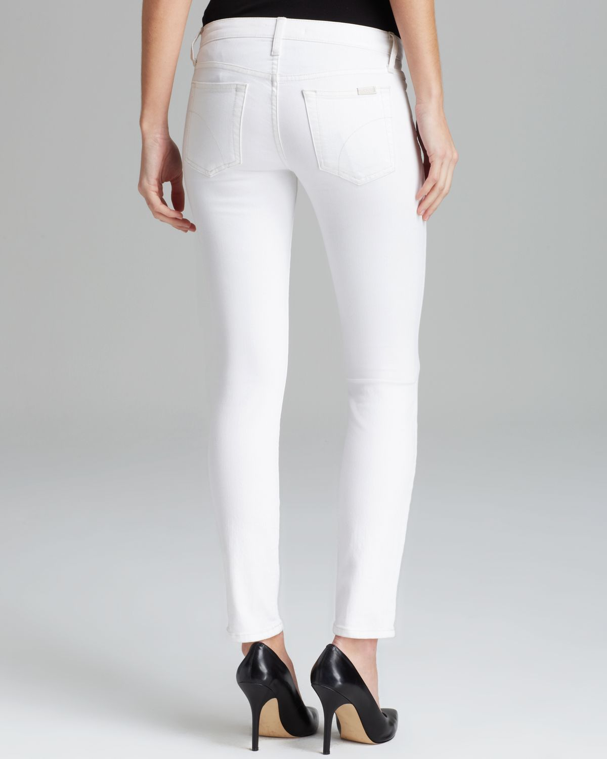 Joe's jeans Pennie Skinny Ankle in Optic White in White | Lyst