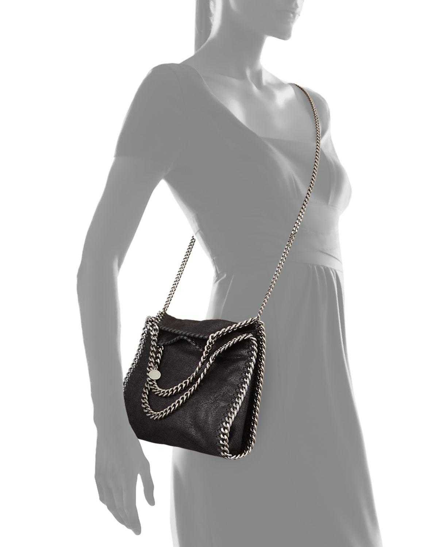 lyst stella mccartney mini falabella crossbody bag in black. Black Bedroom Furniture Sets. Home Design Ideas