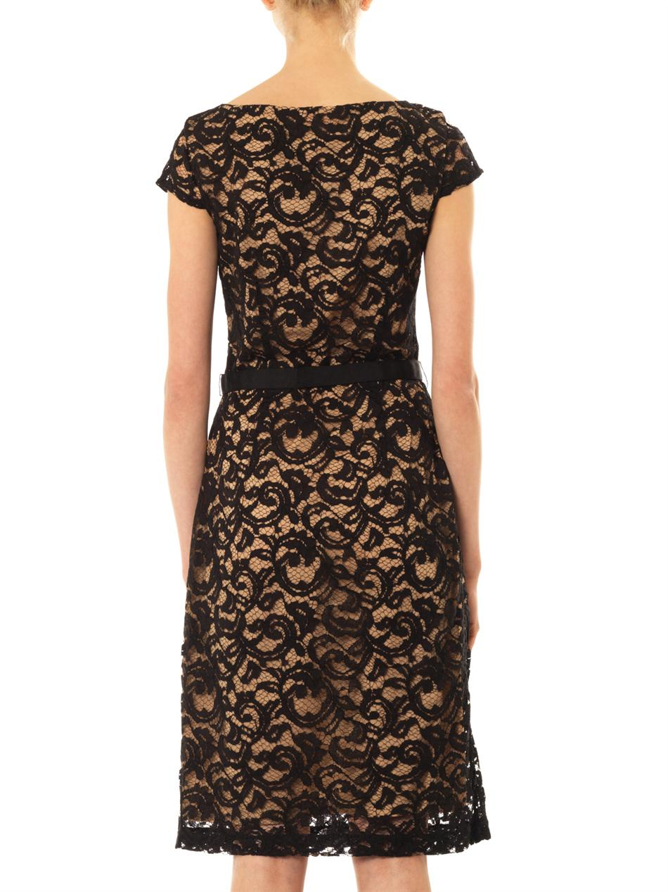 Collette by collette dinnigan Corded Lace Dress in Black ...