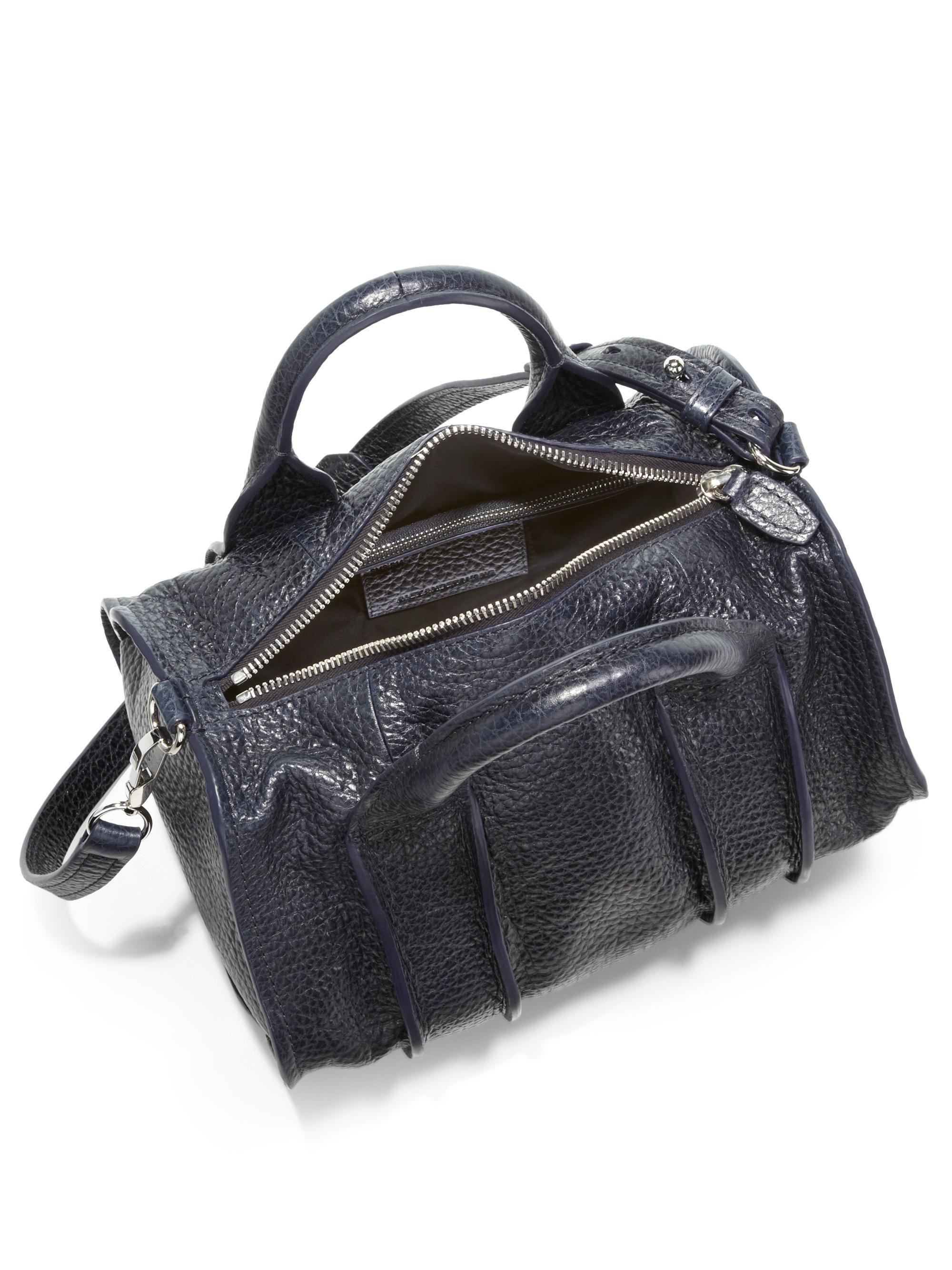 lyst alexander wang rocco duffel bag in blue. Black Bedroom Furniture Sets. Home Design Ideas