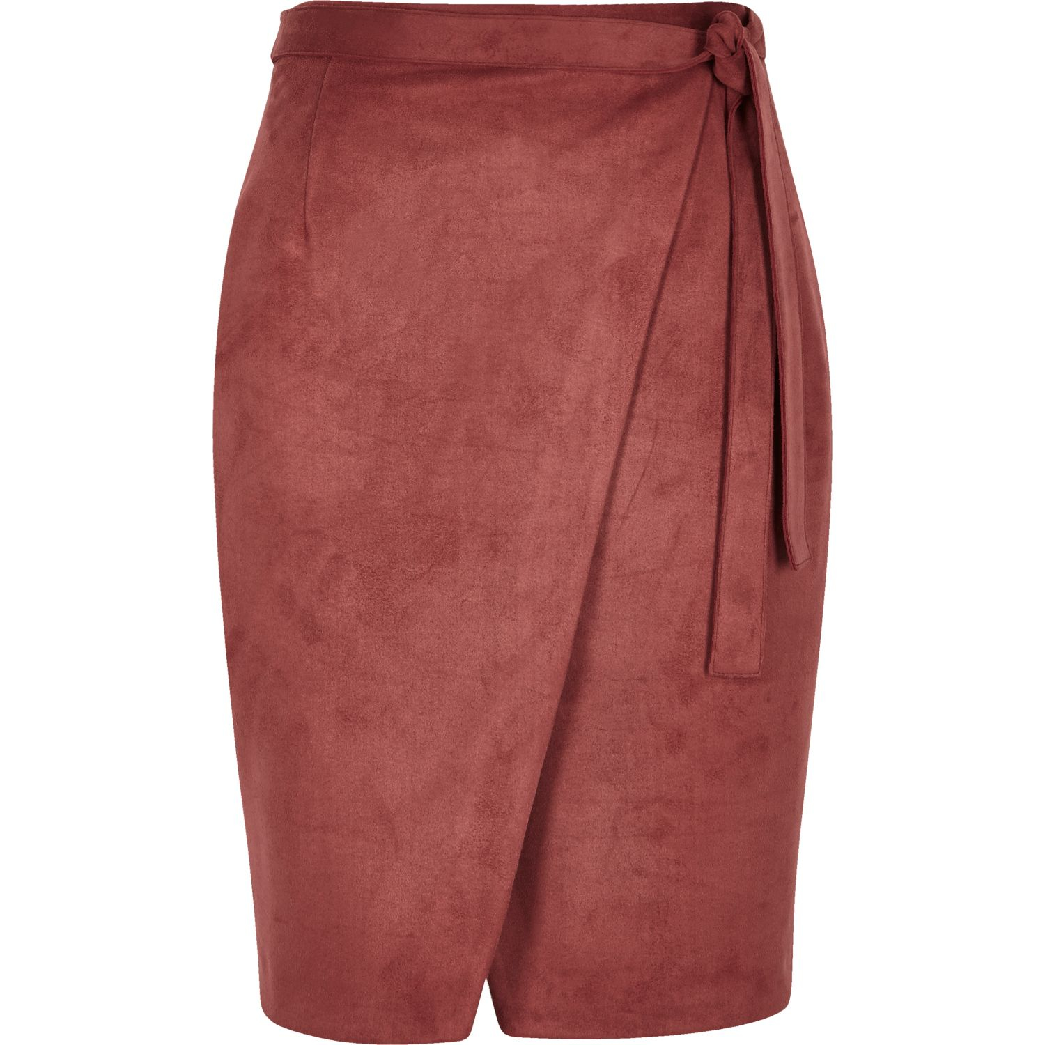 River Island Black Suede Leather Skirt